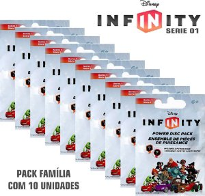 Kit 10 Packs Power Disc Disney Infinity ( Disco de Poder ) Series 1 - Multiplataforma