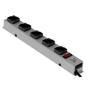Filtro de Linha Lacerda 5 Tomadas Metálico Branco - 250120005-M00