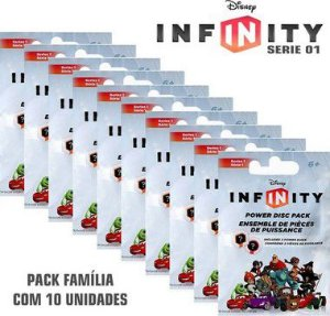 Kit 10 Packs Infinity Power Serie 1 Discos De Poder Disney