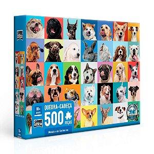 Quebra-Cabeça Mosaico de Cachorros 500 Peças