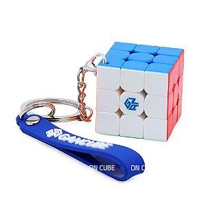 Chaveiro Cubo Mágico 3x3x3 GAN 330 - 3 cm