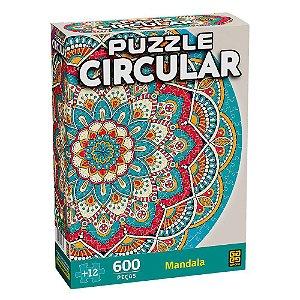 Quebra-Cabeça Circular Mandala 600 Peças