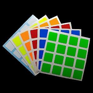 Adesivo 4x4x4 Shengshou - Fluorescente
