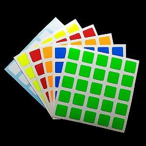 Adesivo 5x5x5 Shengshou - Fluorescente