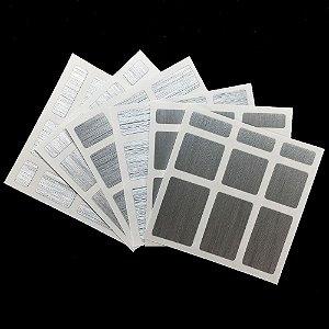 Adesivo Mirror Blocks - Prata Escovado