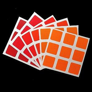 Adesivo 3x3x3 Orange & Red