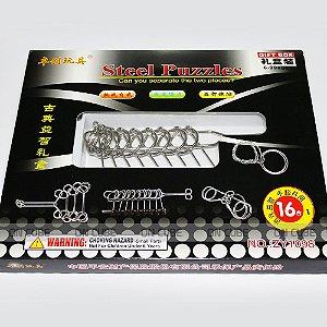 Kit Puzzle Metal - Quebra Cabeça - 16 Peças