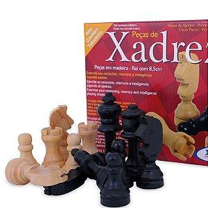 Jogo de Peças de Xadrez em Madeira Xalingo