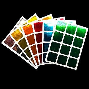 Adesivo 3x3x3 Metalizado Colorido
