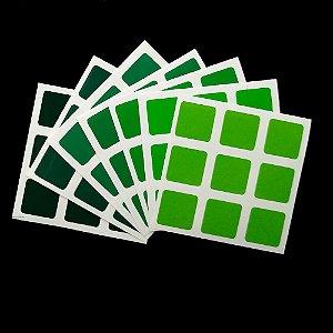Adesivo 3x3x3 Gradiente Verde