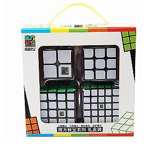 Box Cubo Mágico Moyu 2x2x2 + 3x3x3 + 4x4x4 + 5x5x5 Preto