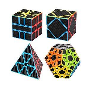 Box Moyu Megaminx + Pyraminx + Square-1 + Skewb Carbono