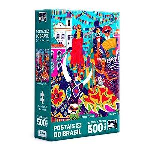 Quebra-Cabeça Postais do Brasil - Festas Típicas 500 Peças Nano