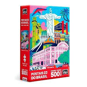 Quebra-Cabeça Postais do Brasil - Monumentos 500 Peças Nano