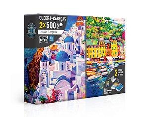 Quebra-Cabeça Litorais Europeus - Grécia e Itália 2 x 500 peças