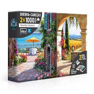 Quebra-Cabeça Recantos Italianos - Toscana e Vinha Italiana 2x1000 peças