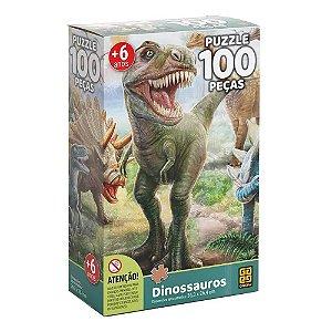 Quebra-Cabeça Dinossauros 100 peças