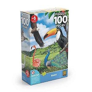 Quebra-Cabeça Aves 100 peças