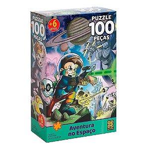 Quebra-Cabeça Aventura no Espaço 100 peças