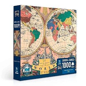 Quebra-Cabeça Novo Mapa do Mundo 1928 1000 peças
