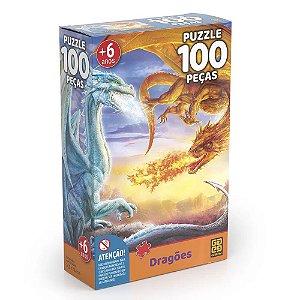 Quebra-Cabeça Dragões 100 Peças