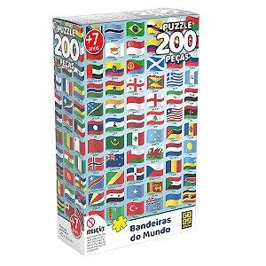 Quebra-Cabeça Bandeiras do Mundo 200 peças