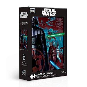 Quebra-Cabeça Star Wars Ep I, II e III 500 Peças Nano