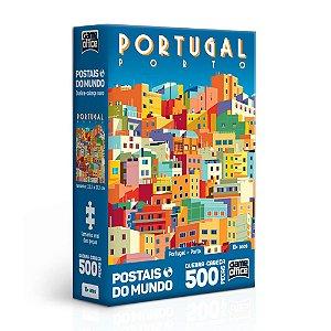 Quebra-Cabeça Postais do Mundo - Portugal - Porto 500 Peças Nano