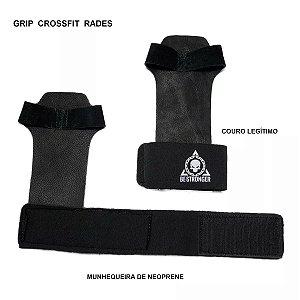 Luva Crossfit Munhequeira Protetor de Mão Grip Pull Up Couro
