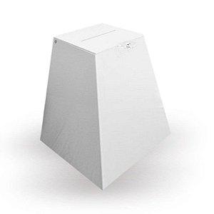 Urna de acrílico Branca  Alt. 40 cm x  Larg. 30 cm  -  Cadeado Grátis