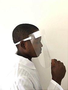 Máscara Facial Protetora Anti Cuspir Respingos - Kit 25 Pçs