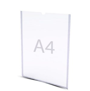 Display A4 Parede Acrílico A 30cm x L 21cm Dupla Face