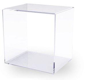 Nicho em Acrílico Cristal – Medidas: 25,0cm x 25,0cm x 25,0cm (altura x largura x profundidade)