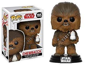 Funko Pop! Star Wars Últimos Jedi - Chewbacca e Porg #195