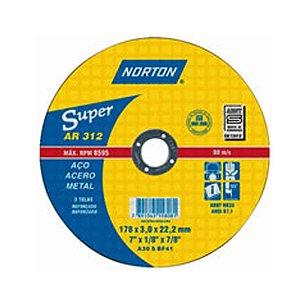 DISCO DE CORTE 115X3,0X22,22 AR312 NORTON SUPER