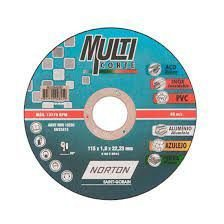 DISCO DE CORTE 115 X 1.0 X 22.23 MULTI CORTE-NORTON IMP