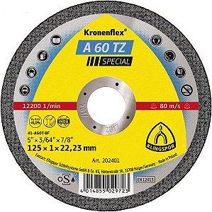 """DISCO DE CORTE 4 1/2""""X1,0MM A60TZ - KLINGSPOR"""
