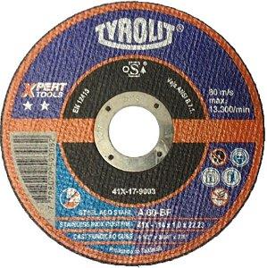 """DISCO DE CORTE 4"""" 1/2 x 1,0 SECUR EXTRA A60Q-BFXA TYROLIT"""