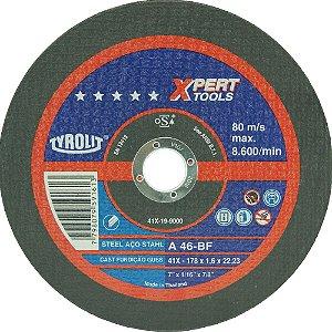 """DISCO DE CORTE 7"""" x 1,6 XPERT TOOLS A46Q-BF Tyrolit"""