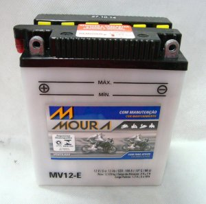 Bateria  Moura Mv12-e Moto Honda Cb400 Cbr450 Cb500four YB12A-A
