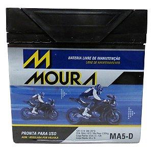 Bateria Para Moto Honda Xre 300 Moura Ma5-d Titan Pcx 150
