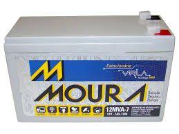 Bateria Estacionária Moura Nobreak 12v 7ah Bicicleta Elétrica