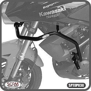 Protetor Motor Carenagem C/Pedaleira Kawasaki Versys 650 Até 2014