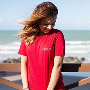 Camiseta Feminina Coordenadas Vermelha