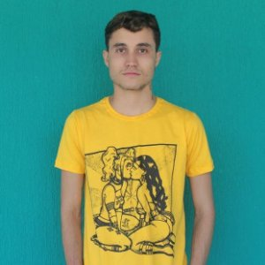 Camiseta Heroínas Slim Amarela