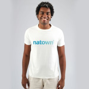 Camiseta Natown Branca Degradê