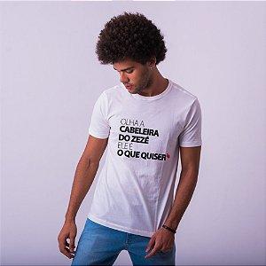 Camiseta Masculina Cabeleira do Zezé Branca