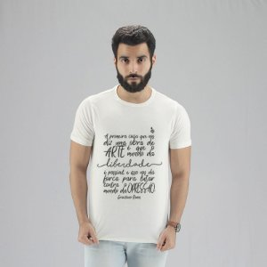 Camiseta Graciliano Ramos Branca