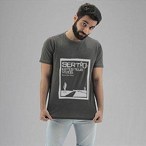 Camiseta Guimarães Rosa Chumbo