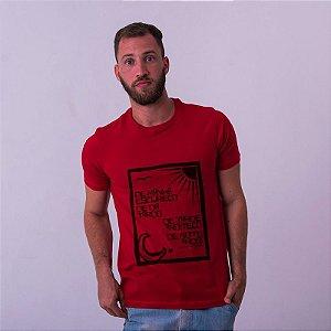 Camiseta Vinicius de Moraes Vermelha